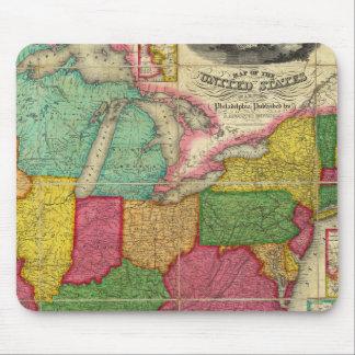Mapa de los Estados Unidos 2 Alfombrillas De Raton