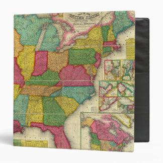 """Mapa de los Estados Unidos 2 Carpeta 1 1/2"""""""