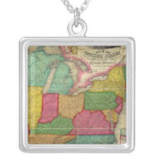 Mapa de los Estados Unidos 2 Collares