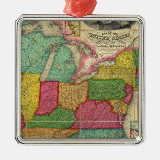 Mapa de los Estados Unidos 2 Ornamento De Reyes Magos