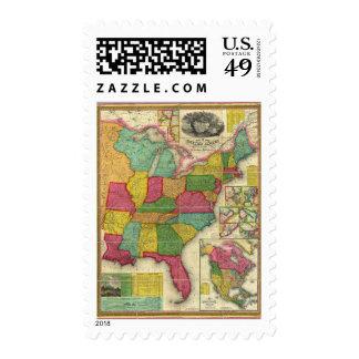 Mapa de los Estados Unidos 2 Franqueo