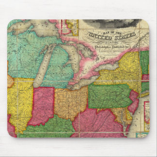Mapa de los Estados Unidos 2 Mousepad