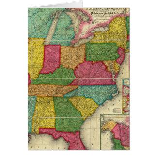 Mapa de los Estados Unidos 2 Tarjetón