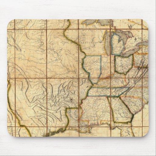 Mapa de los Estados Unidos 3 Alfombrilla De Raton