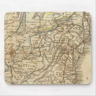 Mapa de los Estados Unidos 3 Alfombrilla De Ratones