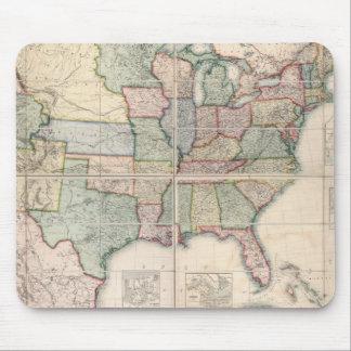 Mapa de los Estados Unidos 3 Alfombrillas De Ratón