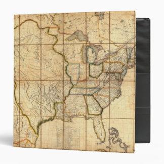 """Mapa de los Estados Unidos 3 Carpeta 1 1/2"""""""