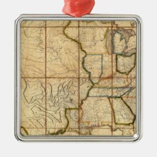 Mapa de los Estados Unidos 3 Ornamento Para Reyes Magos