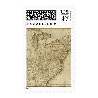Mapa de los Estados Unidos 3 Estampilla