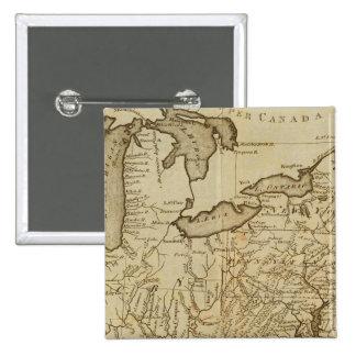 Mapa de los Estados Unidos 3 Pin Cuadrado