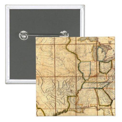 Mapa de los Estados Unidos 3 Pins