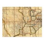 Mapa de los Estados Unidos 3 Postales