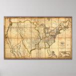 Mapa de los Estados Unidos 3 Posters