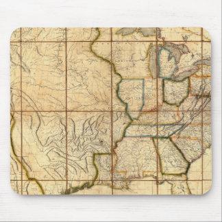 Mapa de los Estados Unidos 3 Tapetes De Raton