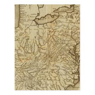 Mapa de los Estados Unidos 3 Tarjeta Postal