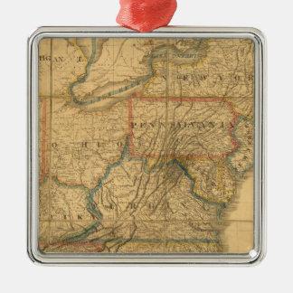 Mapa de los Estados Unidos 4 Ornamentos De Reyes Magos