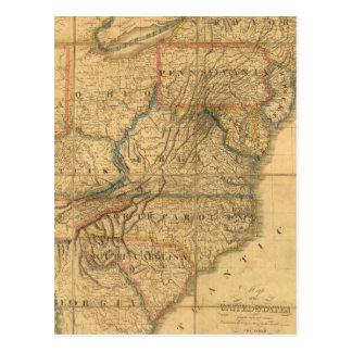 Mapa de los Estados Unidos 4 Postal