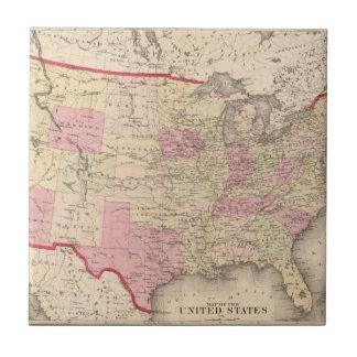 Mapa de los Estados Unidos 5 Azulejo Ceramica