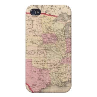 Mapa de los Estados Unidos 5 iPhone 4 Coberturas