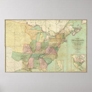 Mapa de los Estados Unidos 5 Posters