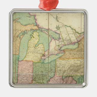 Mapa de los Estados Unidos 6 Ornamentos Para Reyes Magos