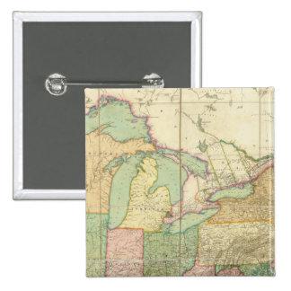 Mapa de los Estados Unidos 6 Pin Cuadrada 5 Cm