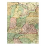 Mapa de los Estados Unidos 6 Postales