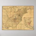 Mapa de los Estados Unidos 6 Póster