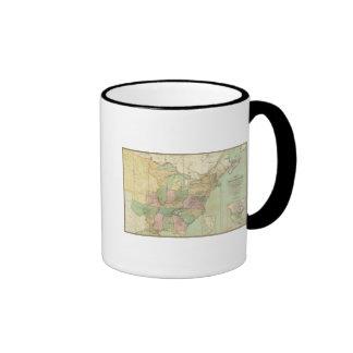 Mapa de los Estados Unidos 6 Tazas De Café