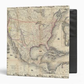 """Mapa de los Estados Unidos Carpeta 1 1/2"""""""