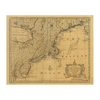 Mapa de los Estados Unidos de América (1783) Cuadros De Madera