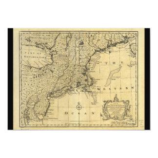 """Mapa de los Estados Unidos de América (1783) Invitación 5"""" X 7"""""""