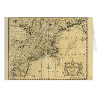 Mapa de los Estados Unidos de América (1783) Tarjeta De Felicitación