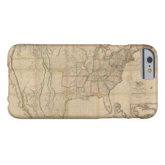 Mapa de los Estados Unidos de América (1823) Funda Barely There iPhone 6