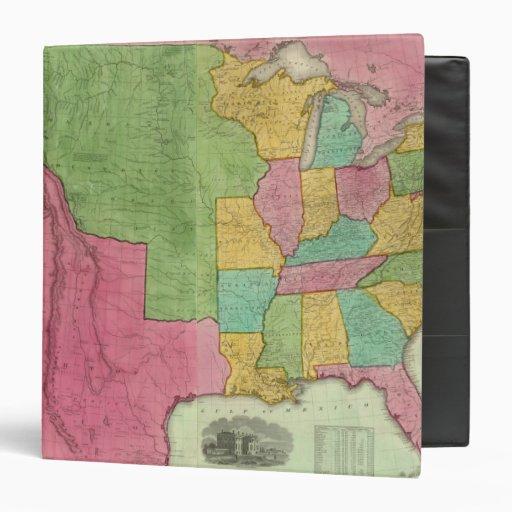 """Mapa de los Estados Unidos de América 1833 Carpeta 1 1/2"""""""