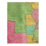 Mapa de los Estados Unidos de América 1833 Tarjetas Postales