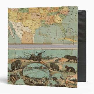 """Mapa de los Estados Unidos de América 2 Carpeta 1 1/2"""""""