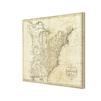 Mapa de los Estados Unidos de América 2 Impresión En Lona