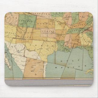 Mapa de los Estados Unidos de América 2 Tapetes De Ratones
