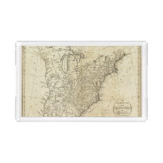 Mapa de los Estados Unidos de América Bandeja Rectangular