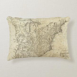 Mapa de los Estados Unidos de América Cojín Decorativo