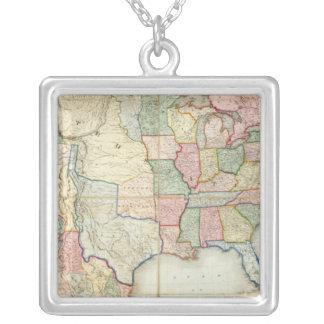 Mapa de los Estados Unidos de América Colgante Cuadrado