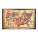 Mapa de los Estados Unidos de América en 1853 Lienzo Envuelto Para Galerías