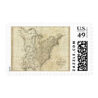 Mapa de los Estados Unidos de América Franqueo