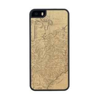 Mapa de los Estados Unidos de América Funda De Madera Para iPhone 5