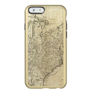 Mapa de los Estados Unidos de América Funda Para iPhone 6 Plus Incipio Feather Shine