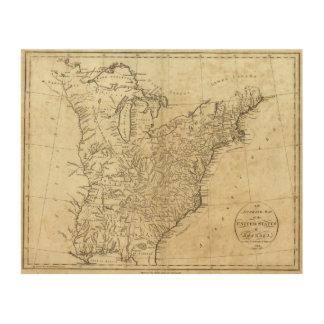 Mapa de los Estados Unidos de América Cuadros De Madera