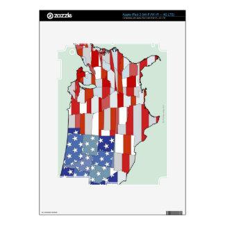 Mapa de los Estados Unidos de América iPad 3 Skins