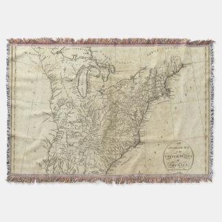 Mapa de los Estados Unidos de América Manta
