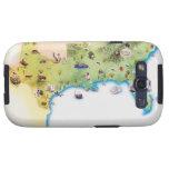Mapa de los Estados Unidos de América meridionales Samsung Galaxy S3 Cárcasa